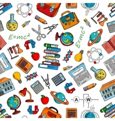 Science and knowledge symbols wallpaper vector