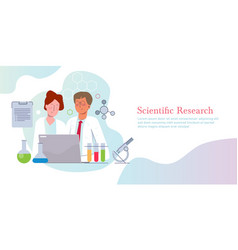 Scientific research concept science discovery vector