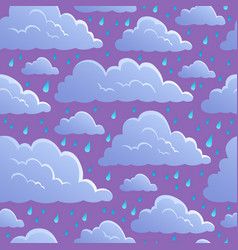 Seamless background with clouds 5 vector