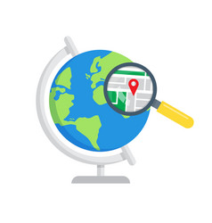 search local maps global search icon vector image
