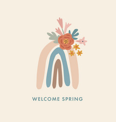 spring summer greeting cards invitations hand vector image