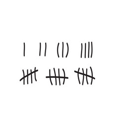 Tally marks on a prison wall isolated counting vector