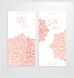 Templates of banners watercolor pink lotus vector