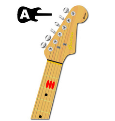 The guitar chord of a major vector