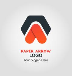upside arrow business logo template vector image