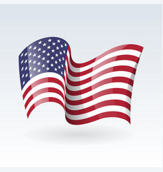 Usa wavy flags united states patriotic national vector