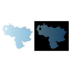 Venezuela map hex-tile abstraction vector