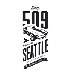 Vintage sport vehicle logo vector