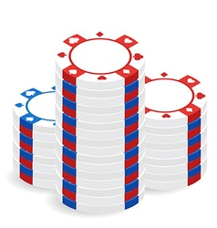 Casino chip pile vector image