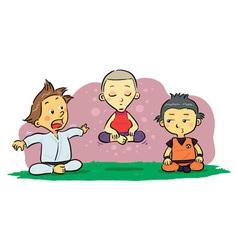 Children Meditation vector image vector image