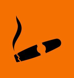 cigar icon vector image