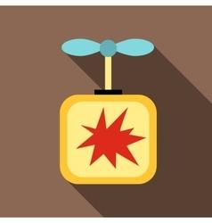Detonator icon flat style vector image