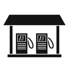 Gas station icon simple style vector image vector image