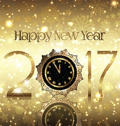 golden new year background 0410 vector image vector image