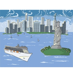 new york doodles vector image vector image