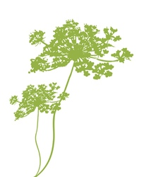 plant green silhouette vector image vector image