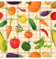 Seamless pattern with fresh ripe stylized vector image