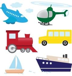 Cartoon transport set vector image