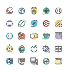 Gaming Cool Icons 4 vector image vector image