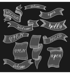 old vintage ribbon vector image