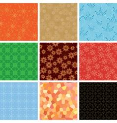 set of various geometric pattern vector image