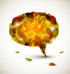 Speech bubble made of colorful autumn leafs vector image vector image