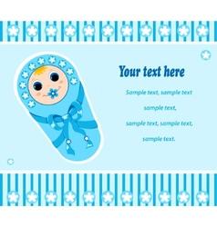 baby boy card 2 vector image