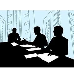 Businessmen Meeting Silhouette vector image