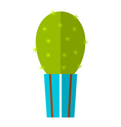 cactus succulent flat color icon vector image