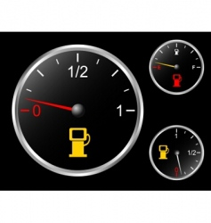 Car's fuel gage vector image