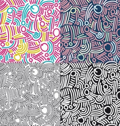 Funky pattern set vector image vector image