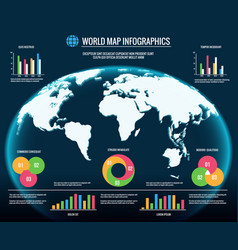 map infographics 3d world maps graphic design vector image vector image
