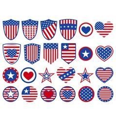 USA symbols vector image vector image
