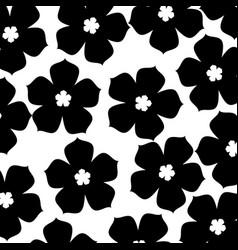 chinese flower sakura decoration seamless pattern vector image