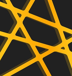 Crossed lines abstract gentle orange and yellow vector image