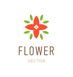 flower abstract logo design template style floral vector image vector image