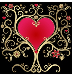 gold valentines vector image