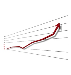 Graph vector image vector image