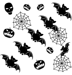 Halloween seamless background vector image