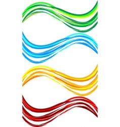 vector set wavy banners vector image vector image