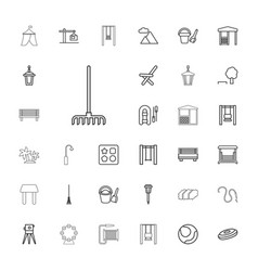 33 outdoor icons vector