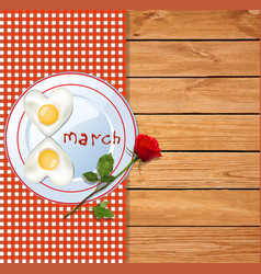 8 march happy womens day template with number vector image