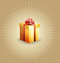 A gift box vector