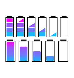 a set of batteries vector image