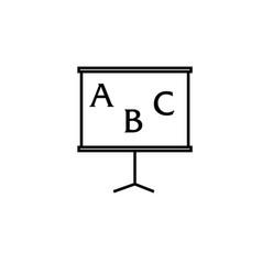abc blackboard icon vector image