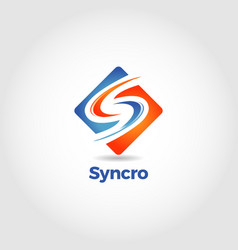 Abstract sync letter s logo symbol vector