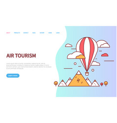 air tourism website with sky transport vector image