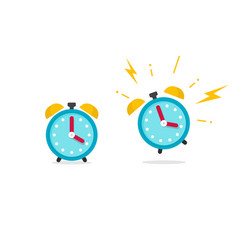 Alarm clock icon flat cartoon vector