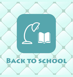 back to school with book reading vector image