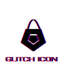 bag icon flat vector image